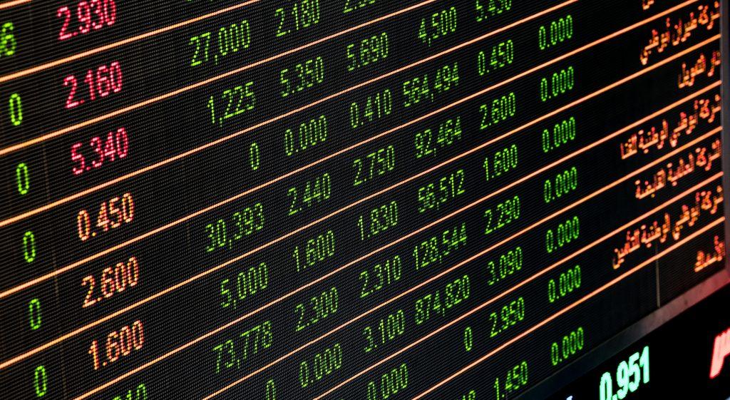 Bank Board Zahlen Kurse